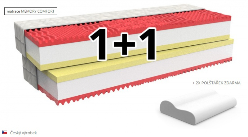 Matrace Memory 1+1 ZDARMA