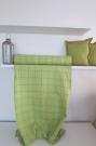 Indická bavlna tkaná UNI zelená