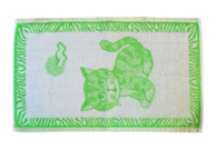 Dětský ručník 30x50 kočka zelená
